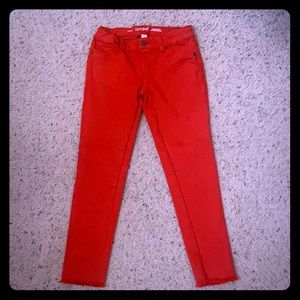 Girls Red Jeans